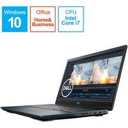 NG385-ANHBCB ゲーミングノートパソコン New Dell G3 15 ブラック [15.6型 /intel Core i7 /SSD:512GB /メモリ:16GB /2020年夏モデル]
