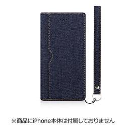 iPhone 7 Plus用 FlipNote フリップノートケース ファブリック デニム Simplism TR-FNFIP165-DM
