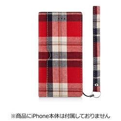 iPhone 7 Plus用 FlipNote フリップノートケース ファブリック レッドチェック Simplism TR-FNFIP165-RC