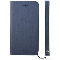 iPhone 8 手帳型 FlipNote Slim フリップノートケース ヘアライン ネイビー TRIP174FNSHNV