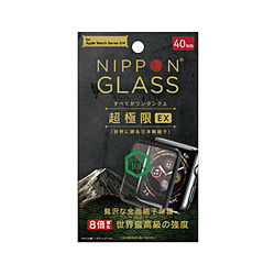 Apple Watch 40mm [NIPPON GLASS] 超極限EX 全面硝子 TYAW1940GHFDXCCBK