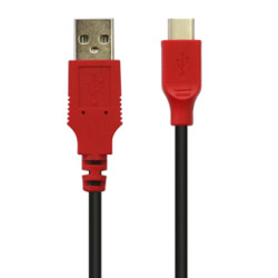 【在庫限り】 USB充電ケーブル 1m Switch用 [Switch] [CC-NSUC1-RD]