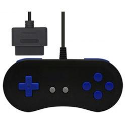 【在庫限り】 16ビットコントローラ ブラックブルー (SFC/SFC互換機用) [CC-SF16C-PP]