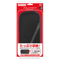 スリムソフトポーチ(Switch Lite用)ブラックグレー CC-SLSSP-BG 【Switch Lite】