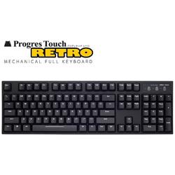 キーボード 静音赤軸 ProgresTouch RETRO 黒 AS-KBPD04/SRBK [有線]