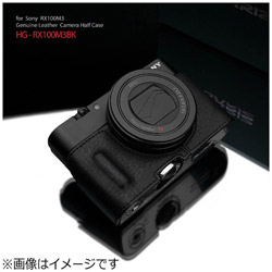 本革カメラケース 【ソニー RX100MIII/RX100MII/RX100用】(ブラック) HG-RX100M3BK