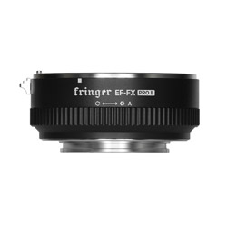 Fringer (フリンガー) FR-FX2 スマートマウントアダプター  (キャノンEFマウントレンズ → 富士フイルムXマウント変換) 電子接点付き 絞りリング付き FR-FX2