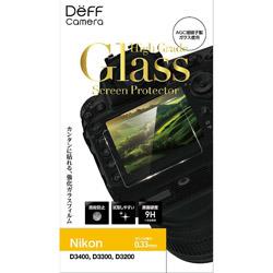 デジタルカメラ用 液晶保護ガラスフィルム DPG-BC1NI03 Nikon D3400、D3300、D3200 対応
