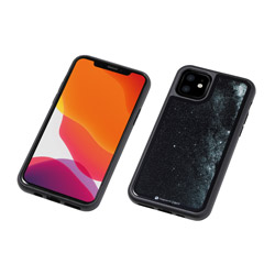 DEFF iPhone 11 6.1インチ 用 HYBRID CASE Etanze 化学強化ガラス&TPU複合素材ケース 星空ブラック BKS-IPE19MSBK