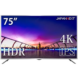 JAPANNEXT JN-IPS7500UHDR 75型ワイド 4K/HDR対応液晶モニター [3840×2160/IPS/DisplayPort・HDMI×3・VGA]