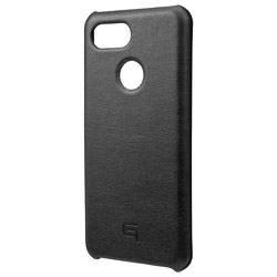 Italian Genuine Leather Shell Case for Pixel 3 Black GSC72918BLK