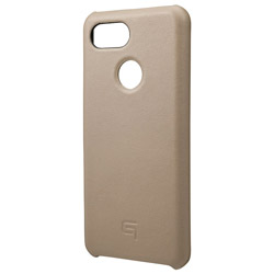 Italian Genuine Leather Shell Case for Pixel 3 Taupe GSC72918TPE