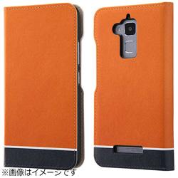 ZenFone 3 Max(ZC520TL)用 手帳型ケース オリジナルデザイン オレンジ IJ-RAZ3MLC/AK094