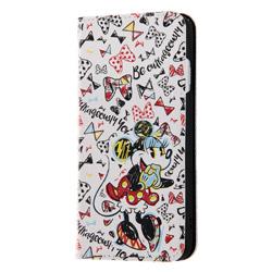 iPhone X用 ディズニーキャラクター 手帳型アートケース マグネット ミニーマウス9 INDP8MLC2MN009