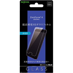 ZenFone 4 ZE554KL ガラスフィルム 9H 光沢 ソーダガラス IN-RAZ4F/SCG