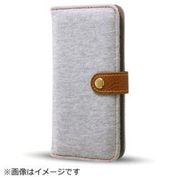 iPhone8/7(4.7)ファブリックカバー スウェット ライトグレー IN-P7SFBC1/GR