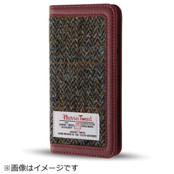 iPhone8/7(4.7)ファブリックカバー ハリスツイード ブラウンヘリンボーン IN-P7SFBC4/HBR