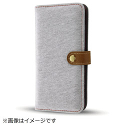 iPhone8/7 Plusファブリックカバー スウェット ライトグレー IN-P7SPFBC1/GR イングレム