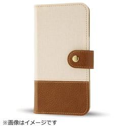 iPhone8/7 Plusファブリックカバー 帆布 オフホワイト IN-P7SPFBC2/W