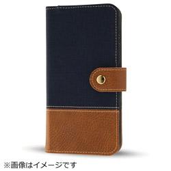 iPhone8/7 Plusファブリックカバー 帆布 ネイビー IN-P7SPFBC2/N