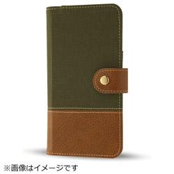 iPhone8/7 Plusファブリックカバー 帆布 カーキ・グリーン IN-P7SPFBC2/G