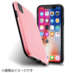 iPhoneX カラップ ペールピンク IN-P8CP1/PP