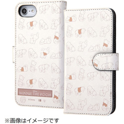 iPhone8/7/6s/6(4.7)手帳型ケース プー32 IN-DP7S6MLC2/PO032