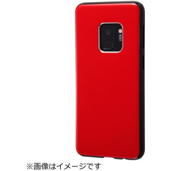 Galaxy S9 TPUソフトケース カラップ レッド IN-GS9CP1/R