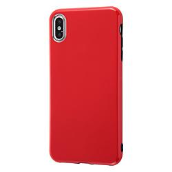 iPhone XS Max 6.5インチモデル用 TPUソフトケース Colorap IN-P19CP1/R レッド IN-P19CP1/R レッド
