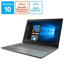 レノボ・ジャパン(Lenovo JAPAN) ノートPC Lenovo ideapad 320 80XL00MNJP オニキスブラック [Win10 Home・Core i7・15.6インチ・Office付き・HDD 1TB・メモリ 4GB]