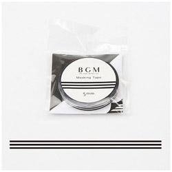 マスキングテープ スペシャルブラック&ホワイト(黒白ボーダー) 幅5mm×長さ7m BM-SPB003