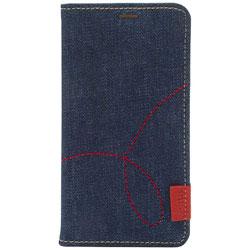 iPhone X用 Denim Stitch Diary デニム Z10302I8