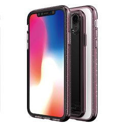 iPhone XR 6.1インチ用 BOIDO MIRROR CLEAR PINK CRYSTAL MN13982I61