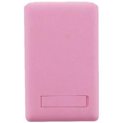 〔スマホポケット[5.5インチまで]〕 Lucy ミラー付きカードポケット ピンク LEPLUS LP-CPMPK