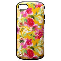 iPhone 8 耐衝撃ケース PALLET Design フラワー オレンジ LEPLUS LP-I7SHVCDOR