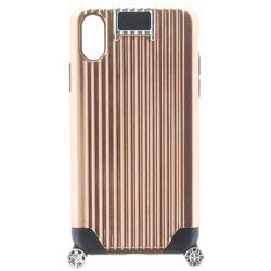 iPhone X用 +U Noah キャリーケース風ハイブリットケース ピンク LEPLUS LP-I8UHVCMPK