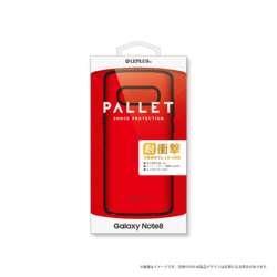 Galaxy Note8用 耐衝撃ハイブリッドケース PALLET レッド LEPLUS LP-GN8HVCRD