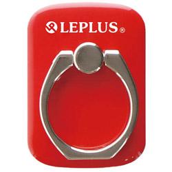 〔スマホリング〕 スマートフォン汎用 スマートフォンリング Grip Ring/PALLET LEPLUS LP-SMRG04RD レッド