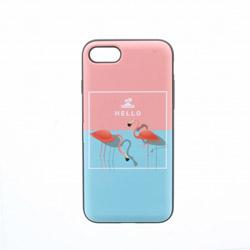 iPhone 8/7【Lucy】ミラー付カード収納ハイブリッドケース ESP4I7SLUHVMB