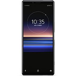 SONY(ソニー) 【SIMフリー】 ソニー Xperia1   防水・防塵 Snapdragon 855 6.5型・メモリ/ストレージ:6GB/128GB nanoSIM x2 ドコモ / au / ソフトバンクSIM対応 SIMフリースマートフォン Xperia ブラック J9110JP B