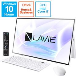 PC-A2797BAW デスクトップパソコン LAVIE A27シリーズ(ダブルチューナ) ファインホワイト [27型 /HDD:4TB /SSD:256GB /メモリ:16GB /2021年1月モデル]