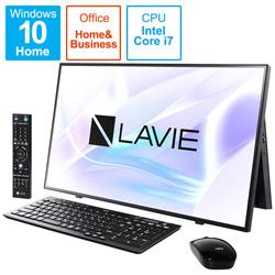 PC-A2797BAB デスクトップパソコン LAVIE A27シリーズ(ダブルチューナ) ファインブラック [27型 /HDD:4TB /SSD:256GB /メモリ:16GB /2021年1月モデル]