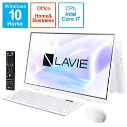 PC-A2377BAW デスクトップパソコン LAVIE A23シリーズ(ダブルチューナ) ファインホワイト [23.8型 /SSD:1TB /メモリ:8GB /2021年1月モデル]
