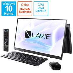 PC-A2377BAB デスクトップパソコン LAVIE A23シリーズ(ダブルチューナ) ファインブラック [23.8型 /SSD:1TB /メモリ:8GB /2021年1月モデル]