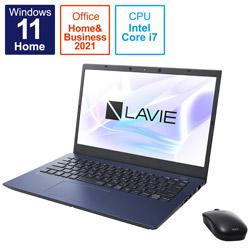 ノートパソコン LAVIE N14 ネイビーブルー PC-N1475CAL [14.0型 /intel Core i7 /メモリ:8GB /SSD:512GB /2021年秋冬モデル]