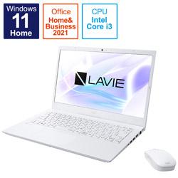 ノートパソコン LAVIE N14 パールホワイト PC-N1435CAW [14.0型 /intel Core i3 /メモリ:8GB /SSD:256GB /2021年秋冬モデル]