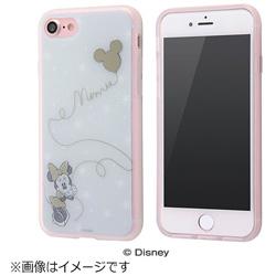 iPhone 7用 TPUソフトケース メタルドローイング ディズニー ミニーマウス IN-DP7HM/MN