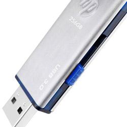 HP USBメモリ 256GB USB 3.0 シルバー キャップレスレス 金属製 耐衝撃 防滴 防塵 のフラッシュドライブ x730w HPFD730W-256