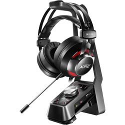 有線ゲーミングヘッドセット+アンプ+スタンド XPG Over-Ear Headset + 7.1channel Amplifier + Metal stand SOLOX F30+EMIX H30