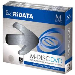 1〜4倍速対応 データ用DVD+Rメディア【M-DISC】(4.7GB・3枚) MDVD47GBPW3P
